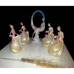 مجسمه ست الیزابت طلایی صورتی